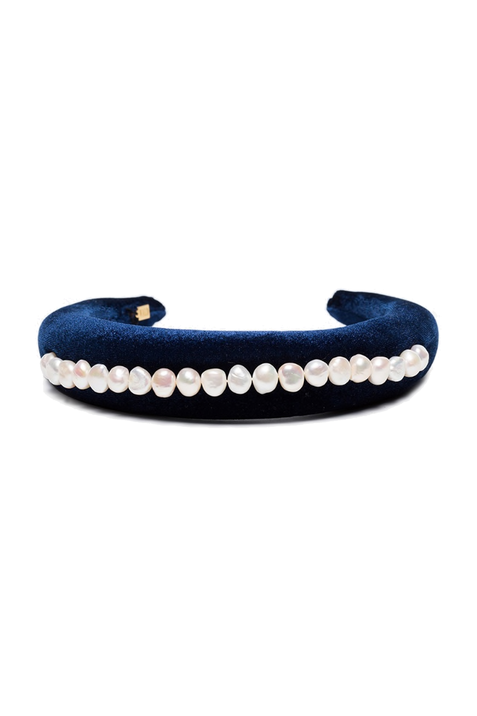 bluetiful blue velvet pearl headband