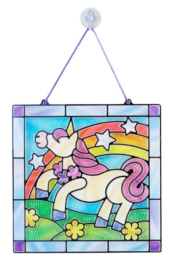 Unicorn-Stained-Glass